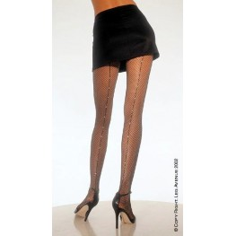 Leg Avenue collant rete con strass