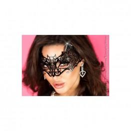 Maschera pipistrello filigranata con strass